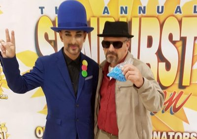 Jamie Pagett as Walter White with Boy George lookalike