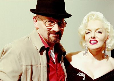 Jamie Pagett as Walter White with Marilyn Monroe lookalike