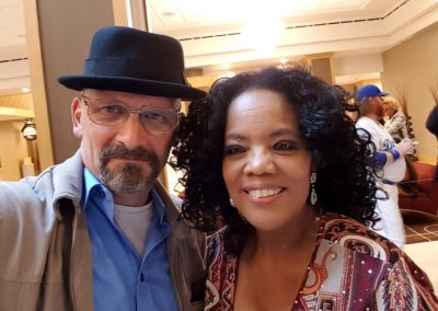 Jamie Pagett as Walter White with Oprah Winfrey lookalike
