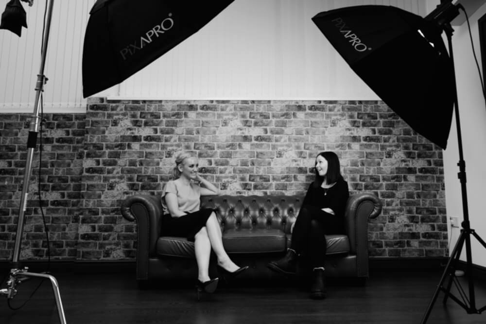 Tamsin Parker, LEGS PR Managing Director interviews a client.
